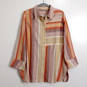 Soft Surroundings Maddalena striped blouse sz M